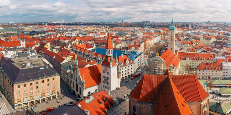 Innenstadt von München: Unternehmenssitz von Scalable Capital, die mit mehr als 2 Milliarden Euro Kundenvermögen zu den größten digitalen Vermögensverwaltern des Landes gehören.