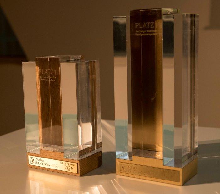 Das Objekt der Begierde: Die Auszeichnung für den 1. Platz in der Gesamtwertung und in der Ewigen Bestenliste wartet auf die Preisträger.