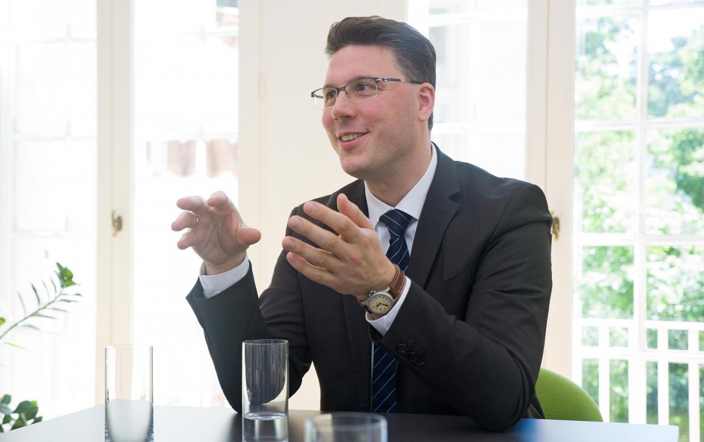 Timon Heinrich, Vorstandsvorsitzender des Vermögensverwalters Hansen & Heinrich