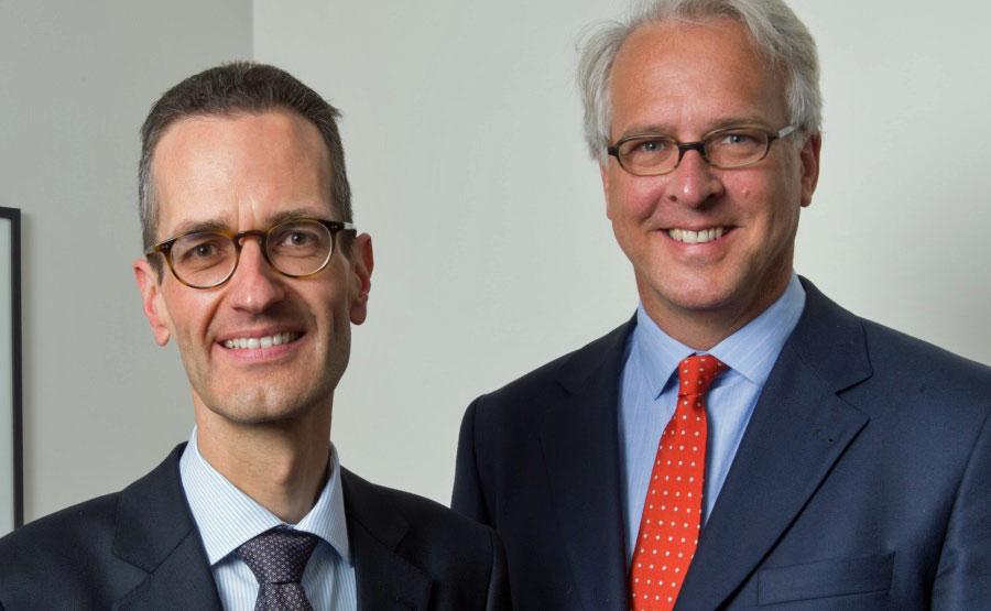 Ernst Konrad (l.) und Georg Graf von Wallwitz von Eyb&Wallwitz.
