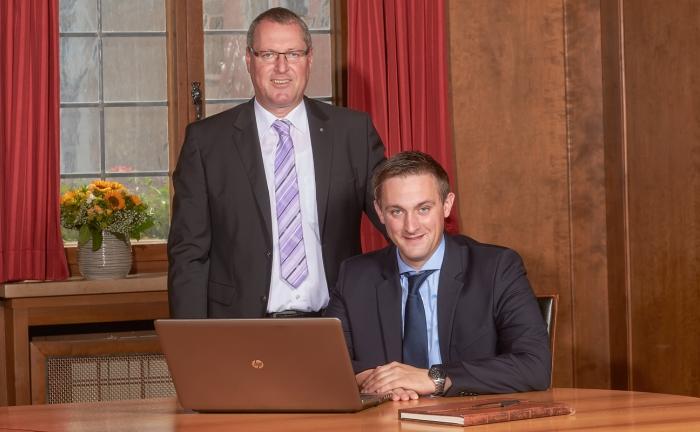 Andreas Glogger (l.) und Sohn Armin Glogger.
