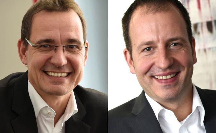 Marc Letzing (l.) und Mario Brößel von Metamorf Business Consulting