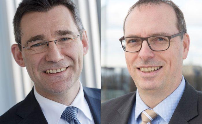 Rechnen mittelfristig mit einer Verdopplung der Mandate im Wealth Management: Vertriebsvorstand Hilger Koenig (l.) und der Leiter Wealth Management Steffen Opitz