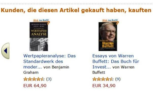 Screenshot amazon.de