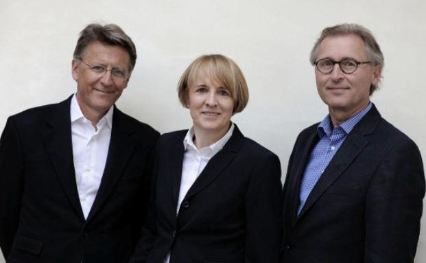 Nick Pfau, Andrée Arth und Thomas Krawietz (von links nach rechts)