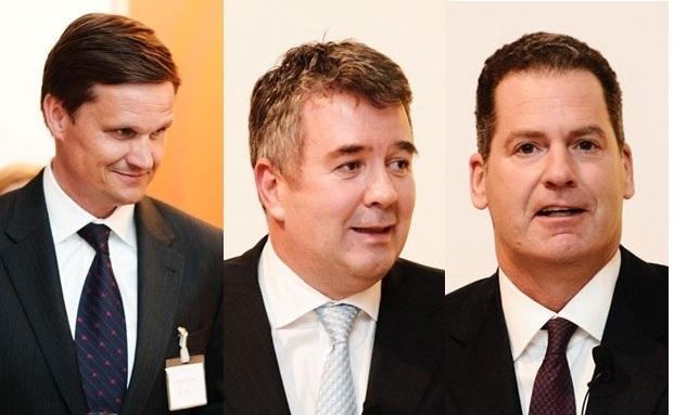 Feierten die neue Filiale: Randolph Kempcke, Jens Spudy und Stephan Hauska (von links).|© Florian Freund