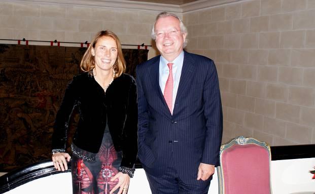 Claudia Otremba, Geschäftsführerin Rogge Global Partners in Frankfurt, mit Firmengründer und -Chef Olaf Rogge