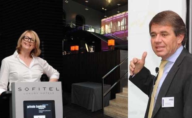 Exklusive Atmosphäre und hochkarätige Redner: Brigitte Olsen von Bellevue asset Management und Thomas Gerhardt von Edmond de Rothschild Asset Management