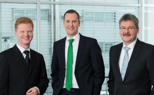 (v.l.n.r.) Simon Kreuels, Benjamin Kehr und Jan Nieswiodek