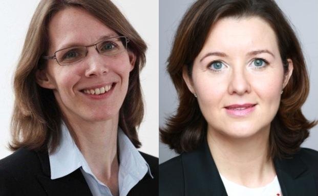 Verena Staats und Cordula Haase-Theobald (von links)
