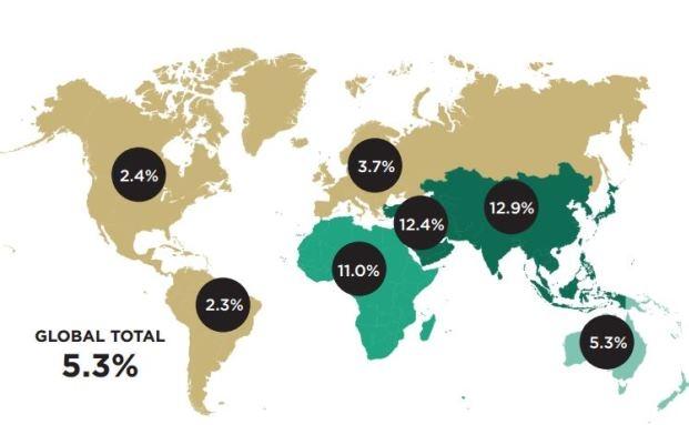 Weltweites Wachstum der Milliardenvermögen|© Wealth-X and UBS Billionaire Census 2013
