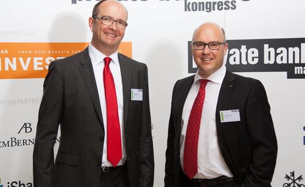 Steffen Schwesig (li.)von der LGT Bank und Bendix Todsen, Solanos|© Ch. Scholtysik / P. Hipp