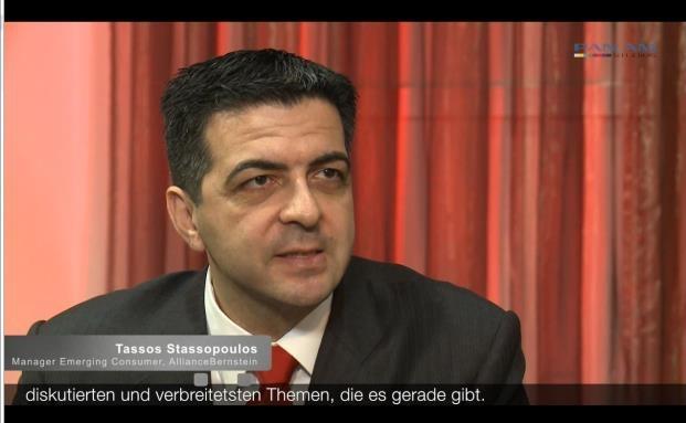 Tassos Stassopoulos, Manager des Emerging Consumer Portfolio, Alliance Bernstein