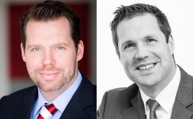 Oliver Morath von Barings und Stephan Volkmann von Itechx (von links)