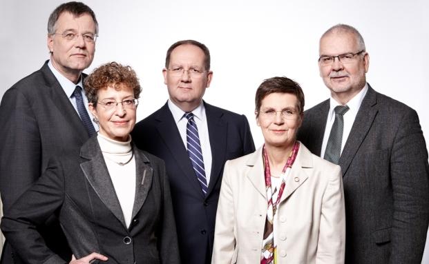 BaFin-Direktorium (v.l.n.r.): Raimund Röseler, Gabriele Hahn, Felix Hufeld, Dr. Elke König, Karl-Burkhard Caspari|© Frank-beer.com / BaFin