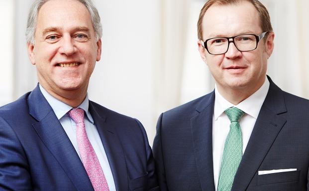 Erwin Edelmann (links) und Lothar Henning, ersterer kam von der Credit Suisse, leiten gemeinsam die Niederlassung der Privatbank Bethmann in Frankfurt