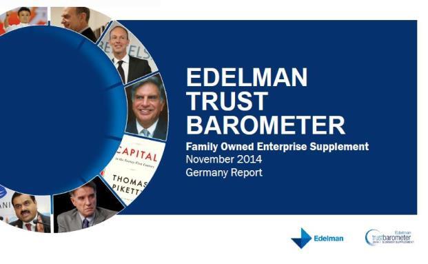 Der Edelman Trust Barometer beschäftigt sich in seiner jüngsten Befragung mit der Reputation von Familienunternehmen