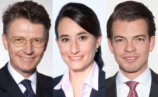 Wolfram Theiss (links), Caroline Picot und Frank Schuck von der Rechtsanwaltskanzlei Noerr LLP ordnen das Urteil des Bundesverfassungsgerichts zum Erbschaftsteuergesetz ein