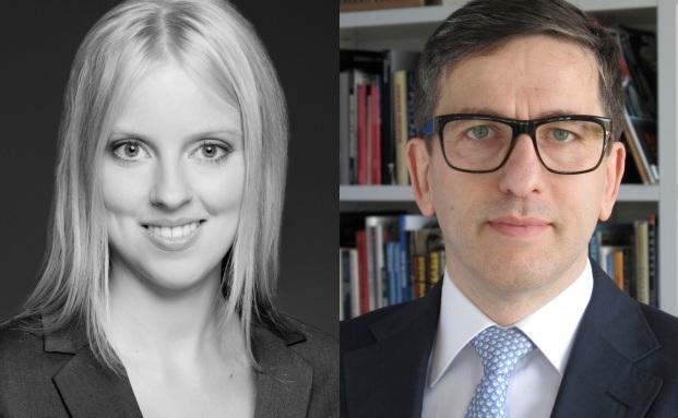 Laura Pfannemüller von der Unternehmensberatung zeb und Spiros Margaris von der Schweizer Beratungsboutique Margaris