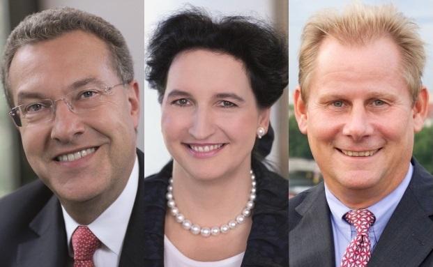 Vorstandsrochade bei der HSBC: der künftige Private-Banking-Vorstand Rudolf Apenbrink (links), Carola Gräfin von Schmettow (Vorstandssprecherin) und Andreas Schmitz (künftig Aufsichtsratvorsitzender)