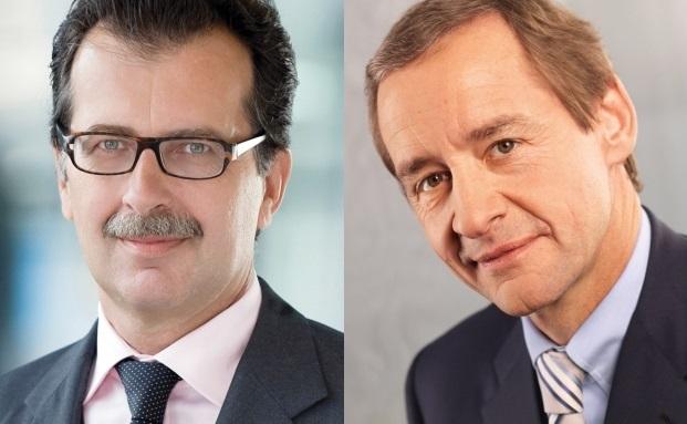 Hans-Jörg Vetter (rechts), Vorstandsvorsitzender der LBBW, und sein Stellvertreter Michael Horn