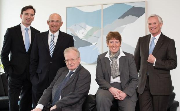 Der Vorstand der IBB: Stephan Schnippe, Dr. Axel Storck, Roland Dasler, Heike Kemmner und Klaus Gallist|© IBB