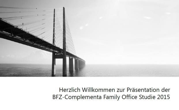 Die neue Studie vom Bayerischen Finanz Zentrum zu Family Offices ist erschienen