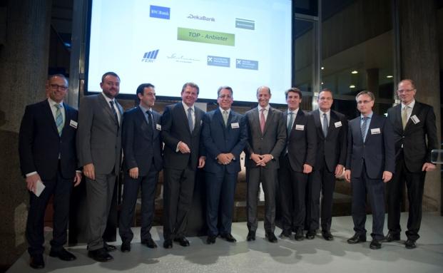 Bild von den Gewinnern des letztjährigen Private-Banking-Markttests, der im November 2014 in Berlin stattfand