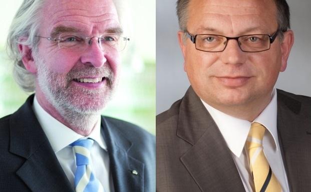 Jörg-Dieter Brand vom Maklerkontors Brand & Co. (links) und Rüdiger Anhuef vom Dr. Anhuef Family Office