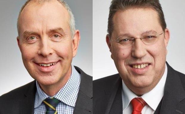 Stiftungsexperten Stephan Schleitzer (links) und Ulrich Burgard