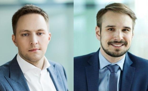 Tomas Krakauskas (l.) und Vaidotas Rukas, Investmentchef und der Leiter des Fondsmanagements der litauischen INVL Asset Management