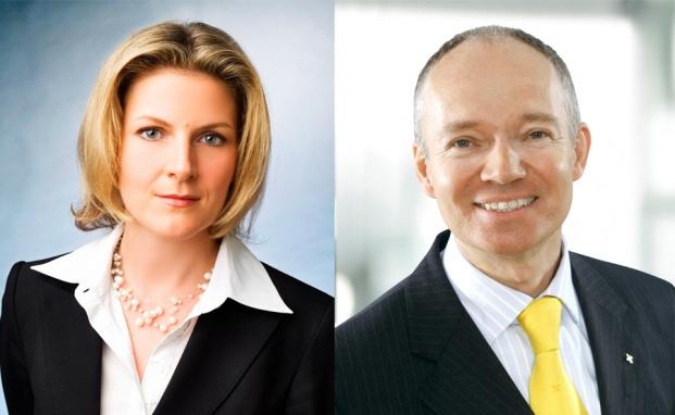 Eva Polly, Leiterin der Abteilung Manager Selection, Raiffeisen Capital Management, und Gaston Giefing, Leiter Private Banking, Raiffeisenlandesbank Niederösterreich-Wien