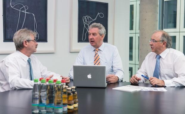 Der bisherige SAB-Vorstand um Hartwig Traber, Wolfgang Rück und Volker Wild soll Zuwachs bekommen