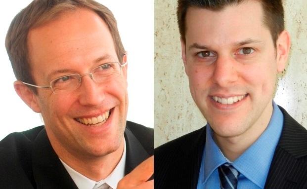 Zusammen mit Professor Oliver Gottschalg die Autoren der Private-Equity-Studie: Ralf Gleisberg (links) und Ramun Derungs