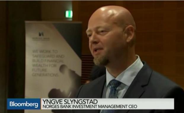 Yngve Slyngstad vom norwegischen des Staatfonds erklärt die jüngsten Verluste