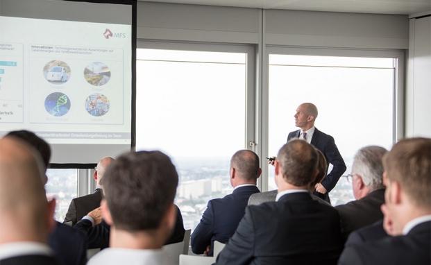 Thomas Krämer, MFS Investment Management, bei seinem Vortrag