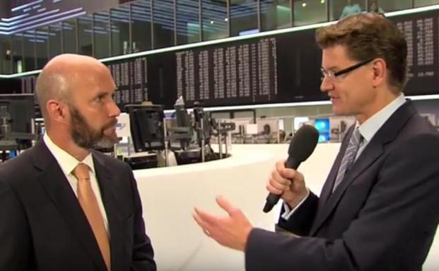 Michael Stegmüller von der IMC Vermögensverwaltung mit Moderator Andreas Frankik
