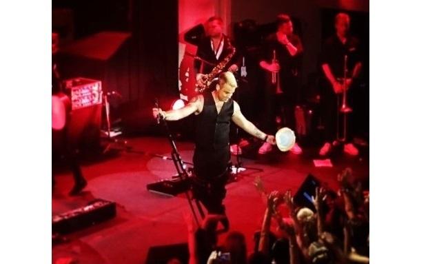 Der britische Entertainer Robbie Williams trat beim Betriebsfest der Berenberg Bank auf