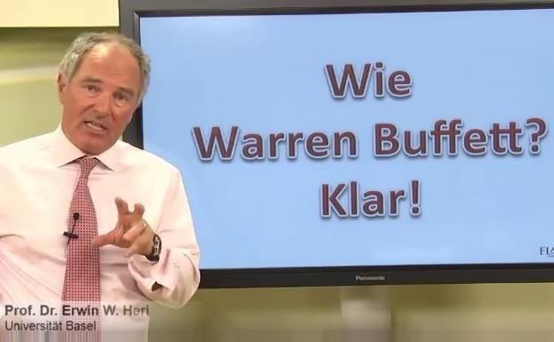 Professor Erwin Heri erklärt den Investmentstil von Warren Buffett