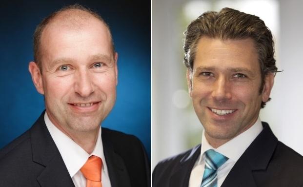 Beschreiben die Entwicklung des Privatkundengeschäfts der Volksbank Rhein-Ruhr zum Private Banking: Ulrich Peine (links) und Alexander Morof