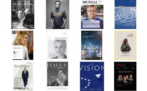 Zwölf Kundenmagazine sind von verschiedenen PWM-Häusern im Einsatz