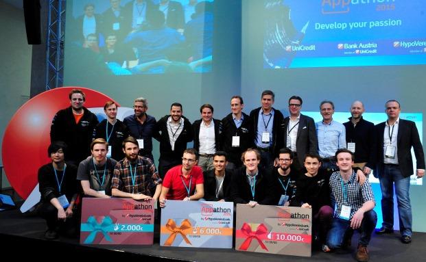 Die Sieger des Unicredit-Appathon-2015-Wettbewerbs