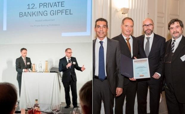 Am 16. und 25. November wurden die besten Private-Banking-Anbieter prämiert. Mal in Berlin durch die Private Banking Prüfinstanz (links), mal in München durch den Elite-Report|© Stefanie Loos (linkes Bild)