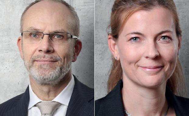 Urs Müller übernimmt die Vertriebsleitung der Liechtensteinischen Landesbank, Natalie Epp rückt in die Gruppen- und Geschäftsleitung auf