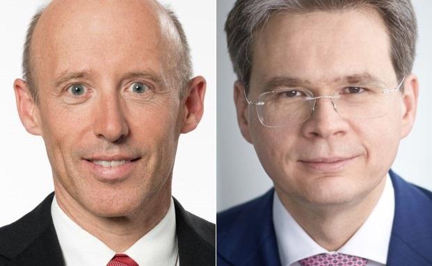 Ihre Häuser wollen bis 2020 kooperieren: Vorstandsvorsitzender der Raiffeisen Bankengruppe Patrik Gisel (l.) und Vontobel-Geschäftsführer Zeno Staub