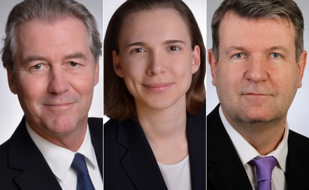 Verstärken die Standorte Düsseldorf, Frankfurt und Leipzig des Maklerhauses Aengevelt: Uwe Menzel (von l. n. r.), Chiara Aengevelt und Christian Halpick