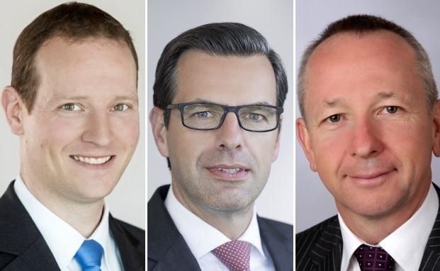 Die neuen Teamleiter des Deutschen Oppenheim Family Office: Rüdiger Holm (von links), Sascha Servos und Wilfried Hoffmann