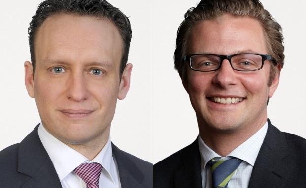Steigen bei Freshfields zu Partnern auf: David Beutel (li.) und Stephan Pachinger
