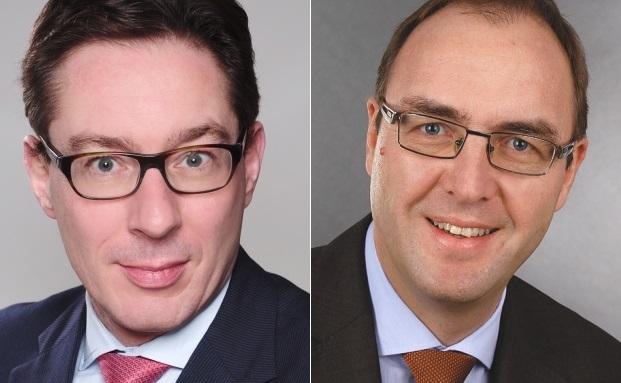 Johannes Anschott (l.) und Dirk Schuster rücken in den Vorstand auf