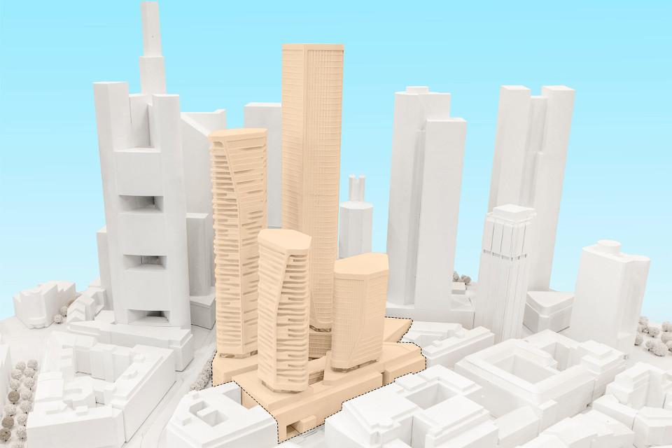 Ehemaliges Deutsche-Bank-Areal: Vier neue Hochhäuser für die Frankfurter Skyline